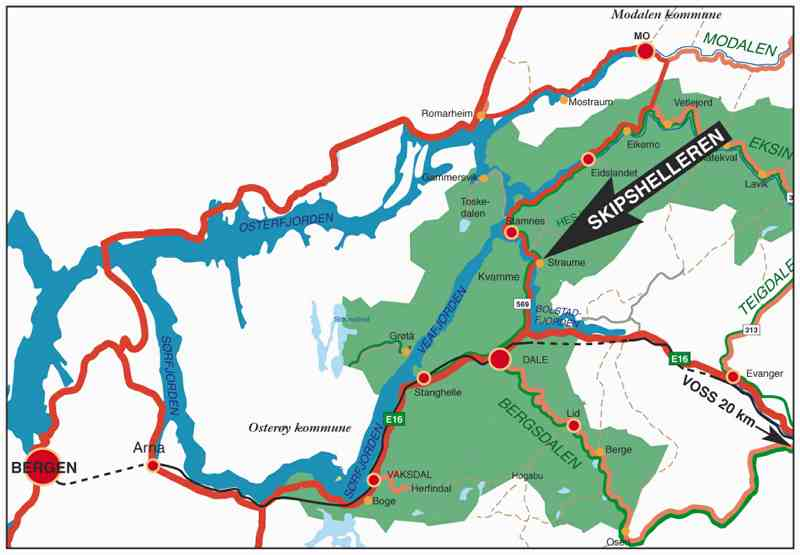 eksingedalen kart Skipshelleren   ein 7000 år gamal steinalderbuplass :: eksingedalen kart